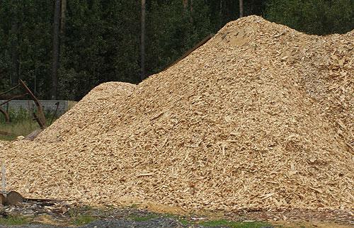 Тепловая подушка на основе   древесных отходов