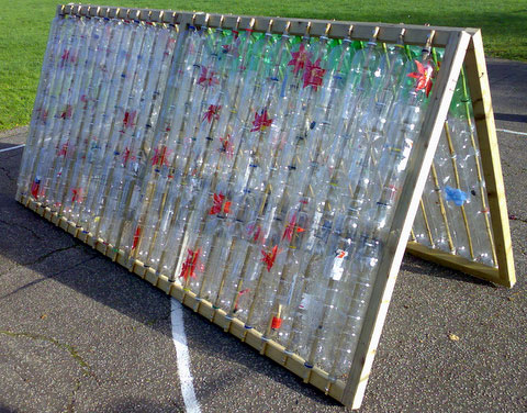 Теплицы из пластиковых бутылок своими руками фото