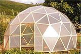 Теплица геодезический купол - все этапы возведения